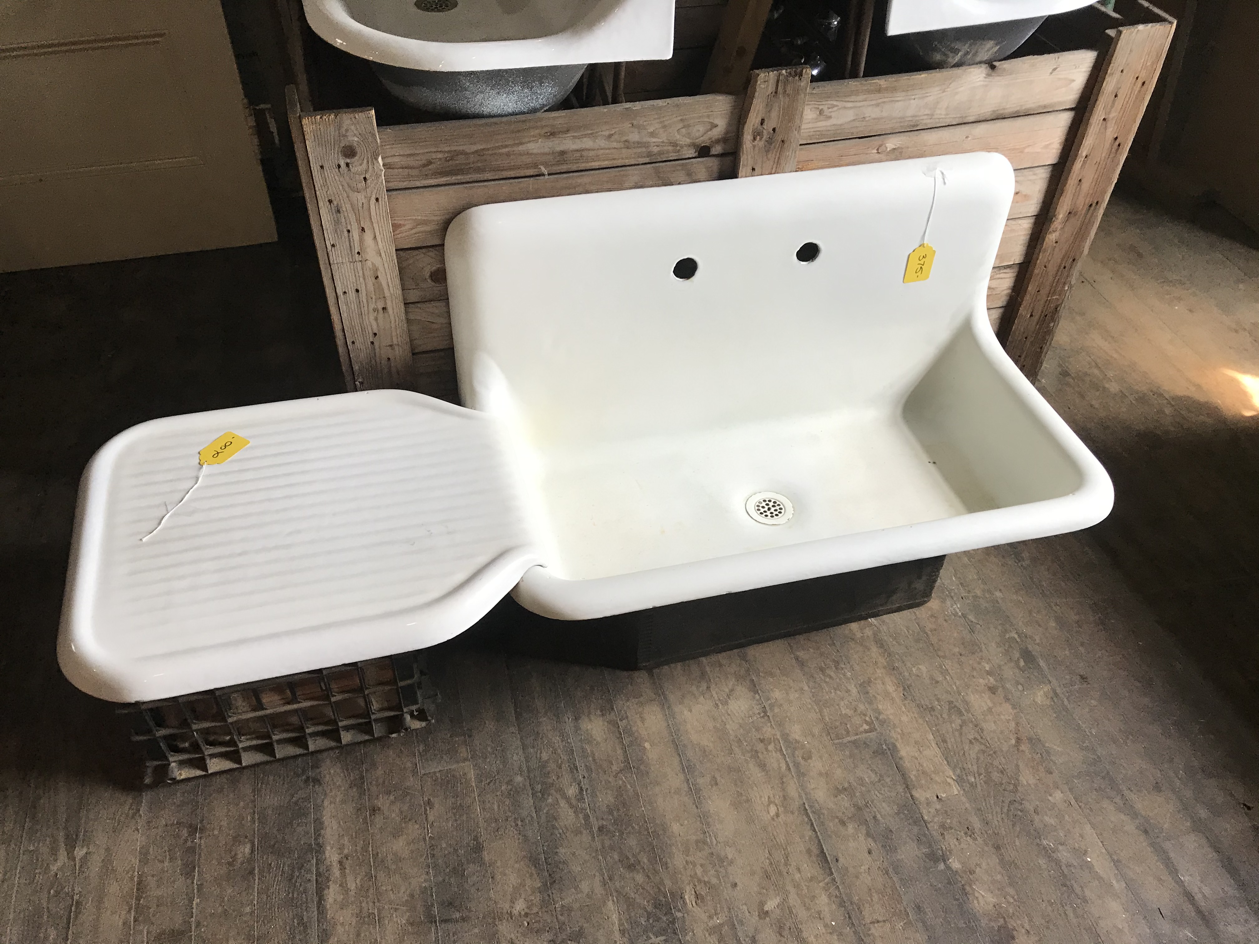 Sink with drain board