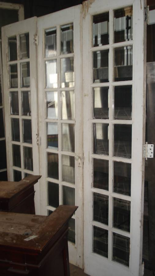 french door set of 3 beveled glass panes